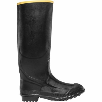 black knee rubber boots