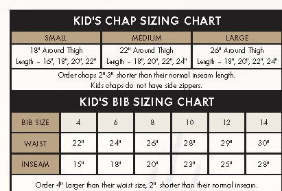 dans hunting gear for kids chap sizer