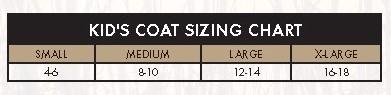 dan's hunting gear kid coat sizes