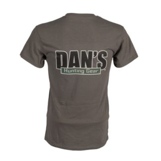Represent in style – our new Dans Men's Hunting T Shirts are 50% Cotton 50% Poly. Dan's Hunting logo on front and back.